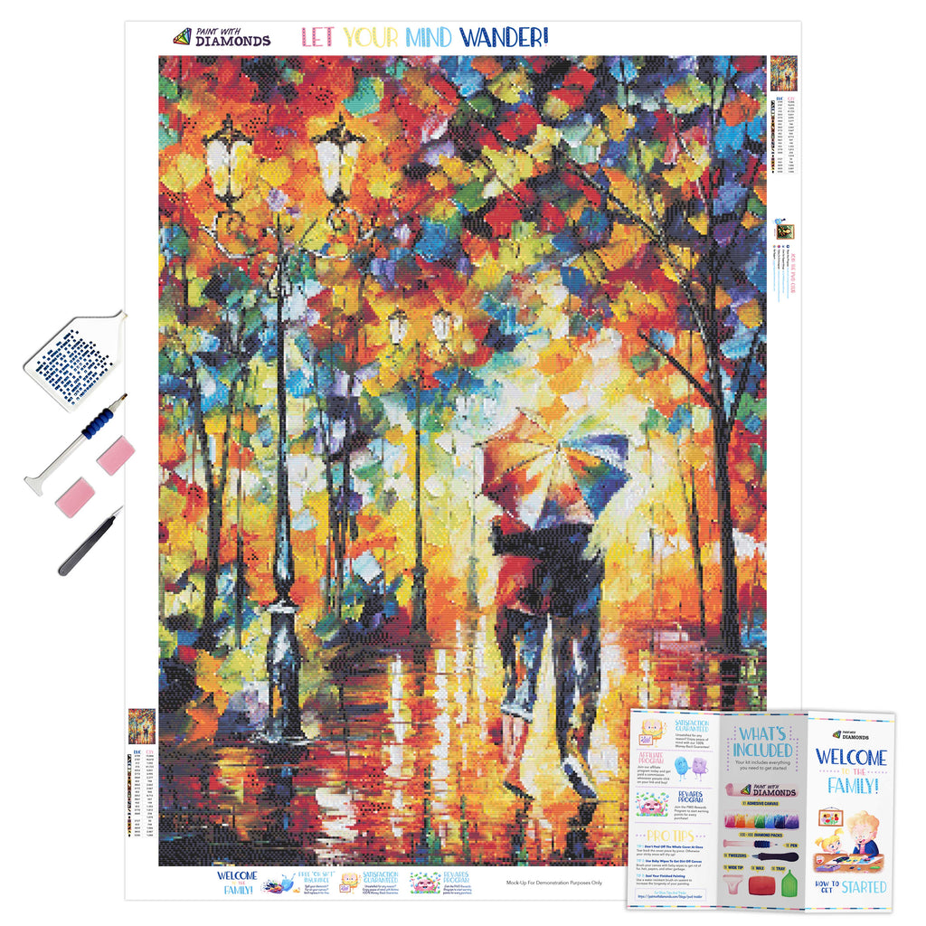 Couple Under One Umbrella-5D Diamond Painting