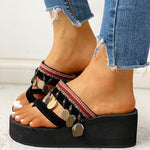Kakimoda Ethnic Multi Strap Slipper Sandals