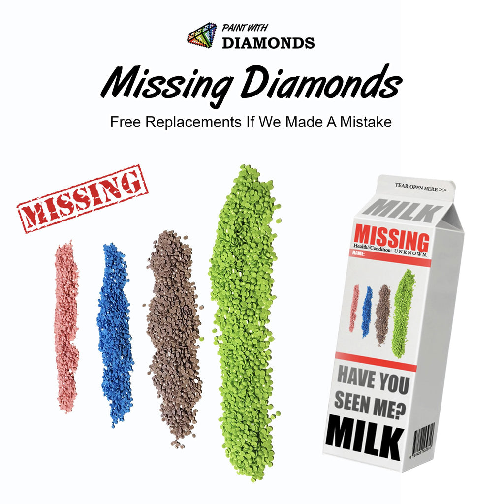 Missing Diamonds-5D Diamond Painting