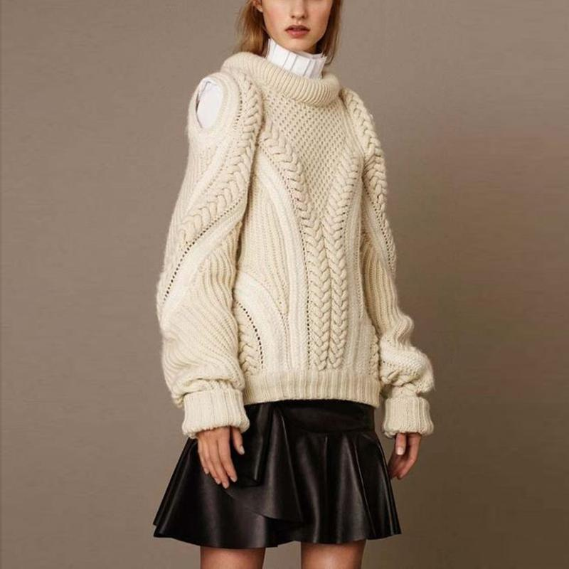 Brief Pure Color Round Neck Loose Sweater