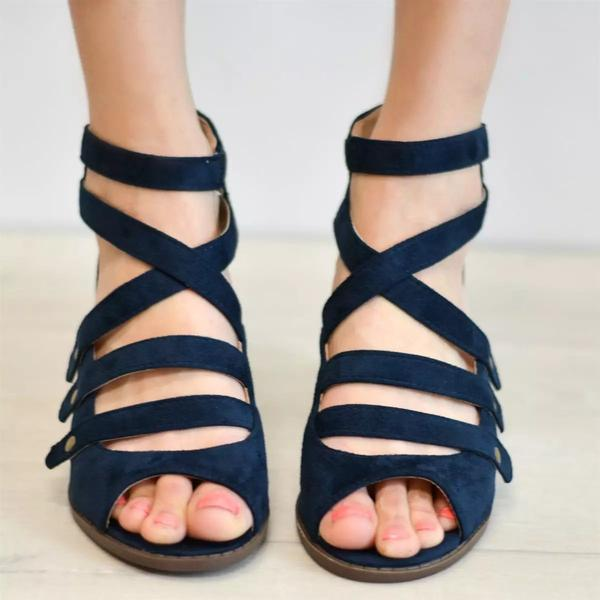 Spring Multi-Strap Heeled Sandals - veooy