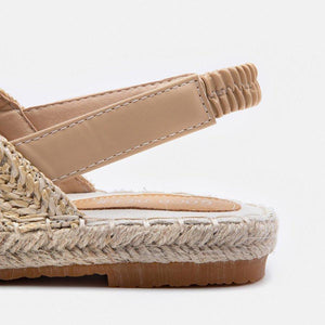 Weaving Espadrille Sandals Elastic Band Slip-On Sandals - nayachic