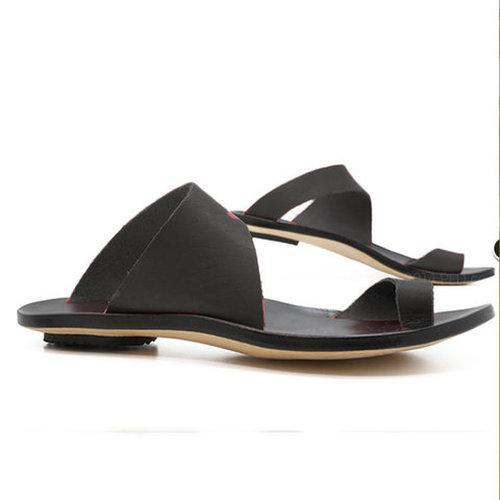Sandals - Slip On Open Toe Flat Heel Sandals - nayachic