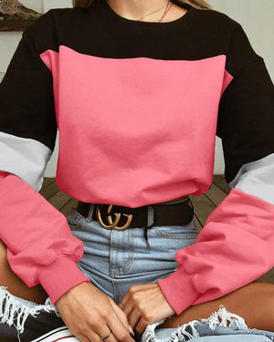 Punk Felpa Con Coulisse Patch Color Sweatshirt - nayachic