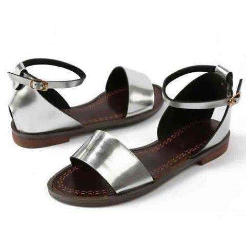 Women PU Sandals Casual Adjustable Buckle Shoes - nayachic