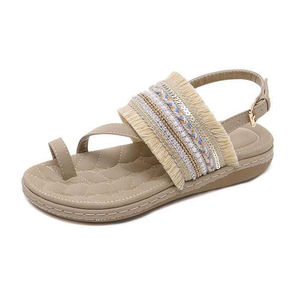 Fashion Casual Fringed Beach Sandals - veooy