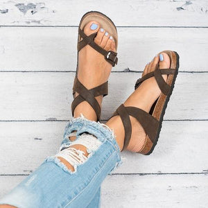 "Ankle Strap Buckle Flip Flop Gladiator Thong Flat Sandals"" class=""product__img - veooy"
