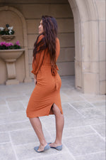 Lia Balloon Sleeve Dress (*Only Available in Small) - Leina Shine