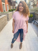 Greek Drape High Low Blouse - Leina Shine