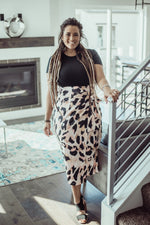 Blush Leopard Wrap Skirt