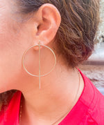 Geometric Static Hoop Earrings - Leina Shine