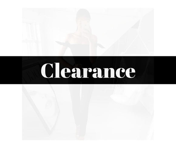 Clearance ($30 or less)