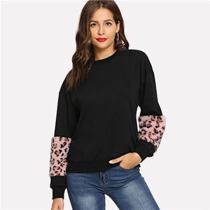 """Coral leopard"" Sweater"