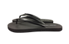 Women's Pitch Black - Savanna Sandals Sustainable Flip Flops Recycled Tire
