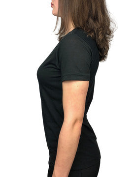 Women's Sustainable Black Tee