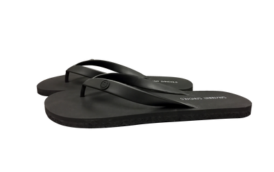 Men's Pitch Black - Savanna Sandals Sustainable Flip Flops Recycled Tire