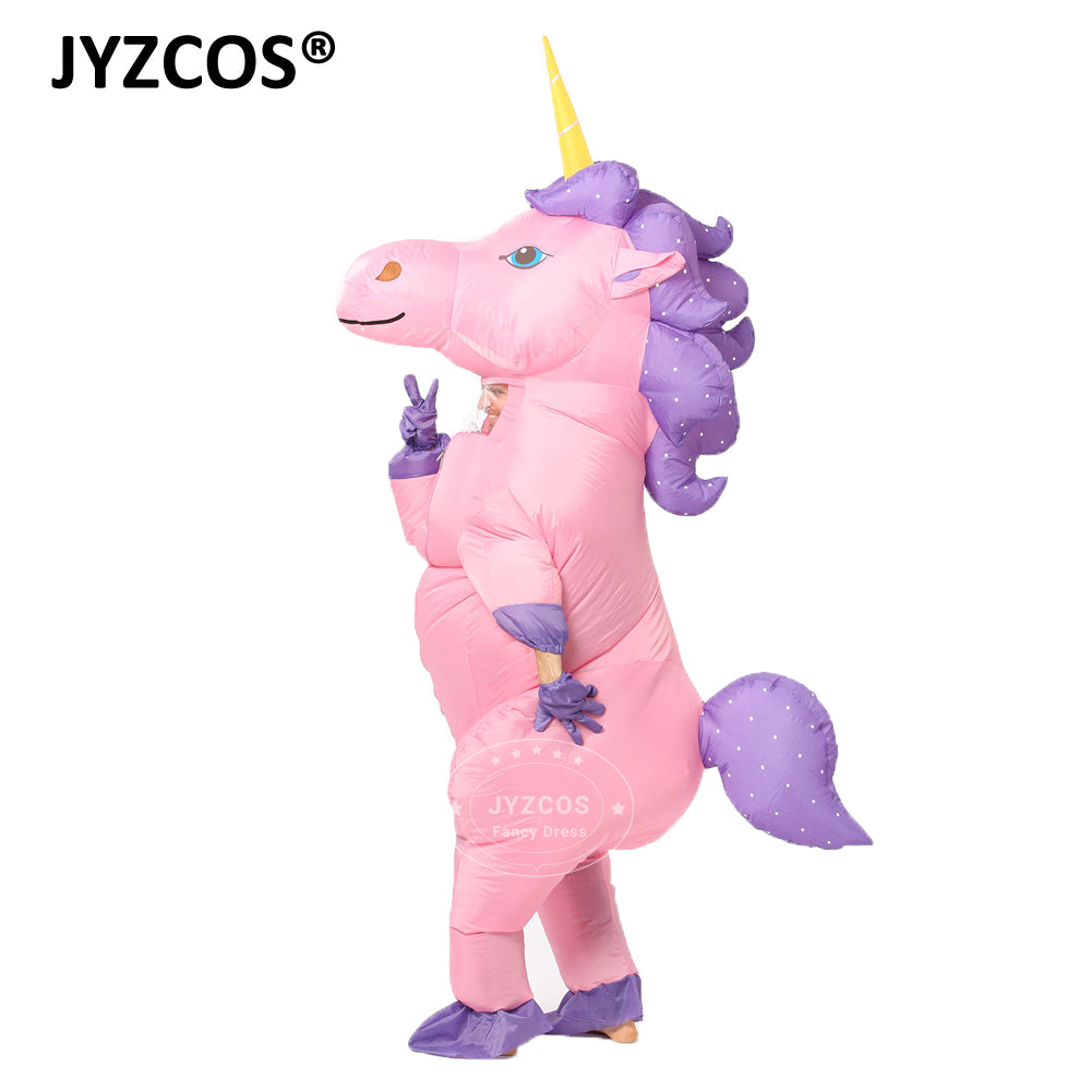 New Unisex Adults Kids Inflatable Unicorn Costume for Carnival Halloween