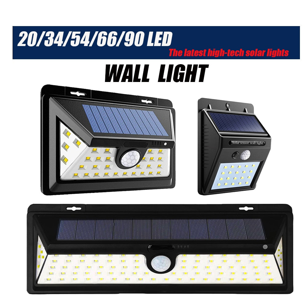 Solar Power Light Outdoor Garden Light Motion Sensor Wall Solar Lamp