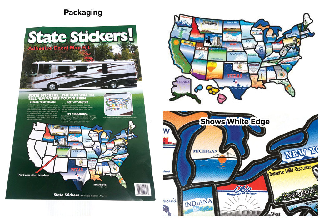 review of cci rv state sticker travel map