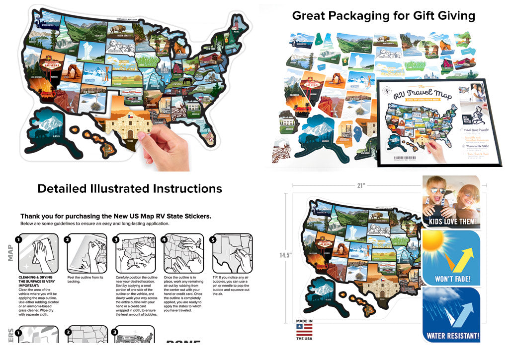 Review of See Many Places RV Sticker Map