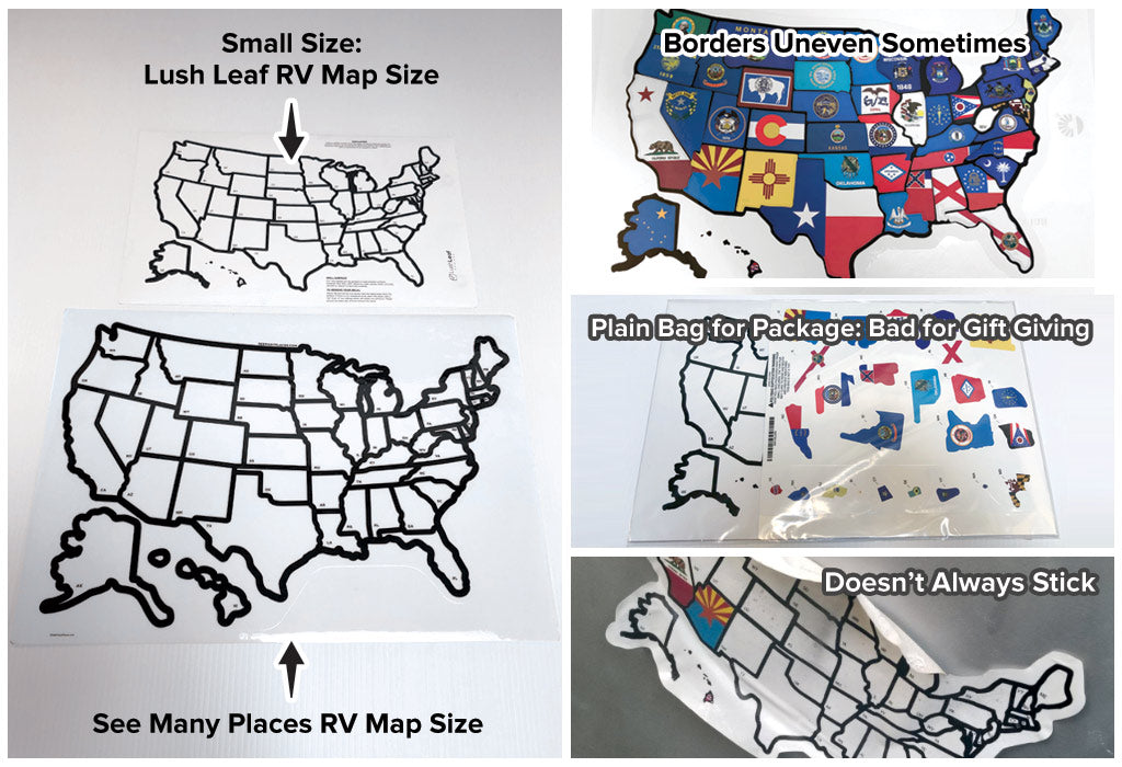 review of lush leaf designs rv state sticker travel map