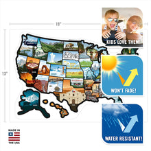 Load image into Gallery viewer, See Many Places US Illustrated Decal Sticker Map