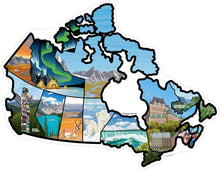 Load image into Gallery viewer, See Many Places Canada Illustrated Decal Sticker Map
