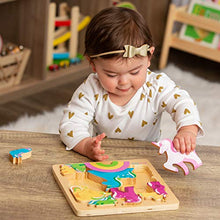 Load image into Gallery viewer, Wooden Puzzle - Unicorn Jigsaw Puzzle for Toddlers 1-3 and Kids 3-5 Best Chunky Wood Puzzles for Learning and Nurturing Motor Skills
