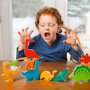 "DinoPuzzle Wooden 3-D Dinosaur Puzzle for Toddlers & Kids Age 3+ 11""x 11"" x .5"""