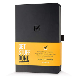 Get Stuff Done Planner for Productivity - Habit Tracker Journal - Undated Monthly, Weekly And Daily Agenda - Best For Full Focus And Achieving Goals - 13 Week Planner, for Men & Women