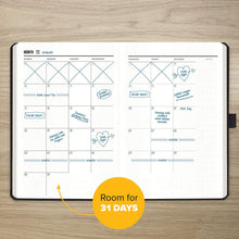 Load image into Gallery viewer, Get Stuff Done Planner for Productivity - Habit Tracker Journal - Undated Monthly, Weekly And Daily Agenda - Best For Full Focus And Achieving Goals - 13 Week Planner, for Men & Women