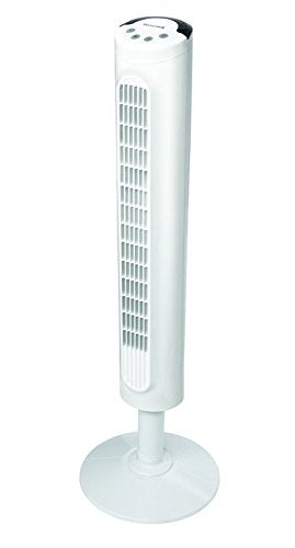 Honeywell HYF023W Comfort Control Tower Fan, Wide Area Cooling, White
