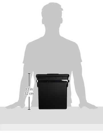 simplehuman 10 Liter / 2.6 Gallon In-Cabinet Kitchen Trash Can, Heavy-Duty Steel Frame