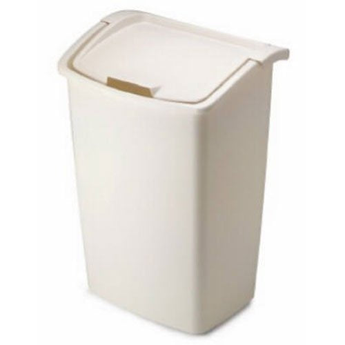 Rubbermaid Dual-Action Wastebasket, Bisque, 45-quart (FG280300BISQU)