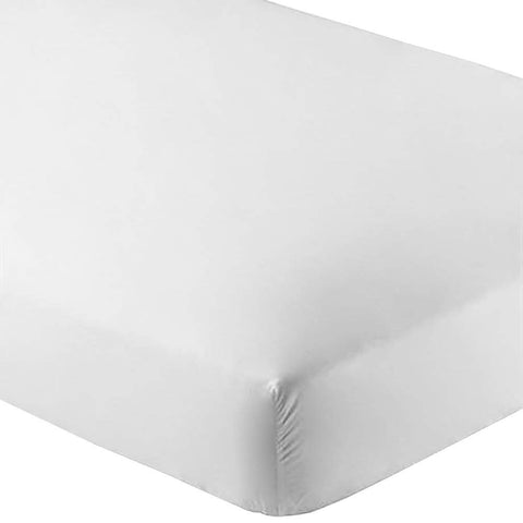 Bare Home Fitted Bottom Sheet Twin Extra Long - Premium 1800 Ultra-Soft Wrinkle Resistant Microfiber, Hypoallergenic, Deep Pocket - (Twin XL, White)