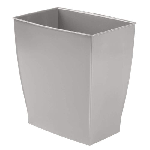 InterDesign Wastebasket Trash Bathroom – Gray Mono Rectangular Can