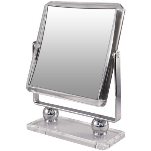 Rucci Square Metal Acrylic Stand Mirror, 7X