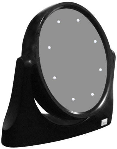 Rucci Black LED Lighted Stand Mirror