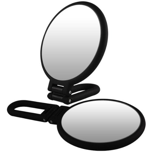 Rucci Normal View Soft Touch Foldable/Handheld Mirror, 10X