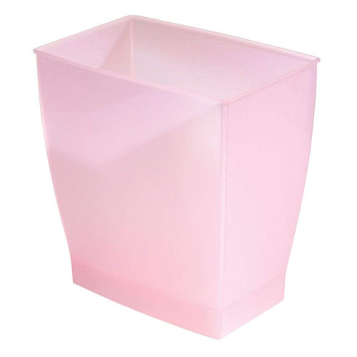 InterDesign Mono Wastebasket Trash Can for Bathroom, Kitchen, Office - Blush Pink