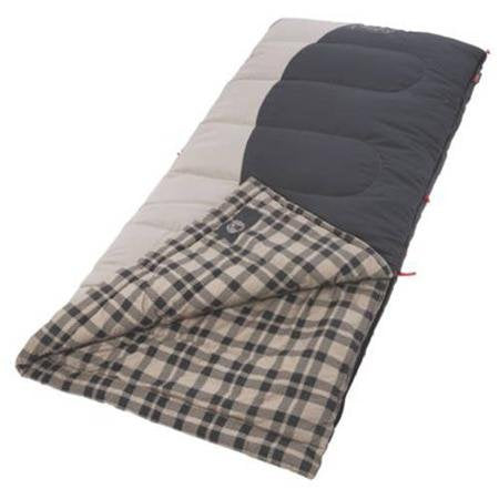 Coleman Heritage Hunter II 25 Big and Tall Sleeping Bag, Comfortable, Water Resistant And Has Quick Cord System For Easy Packing