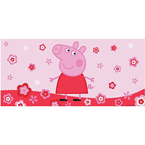 "Peppa Pig Slip Resistant, Super Cute and Easy To Use Peppa's Pond Bath Tub Mat, Pink 30""x 14"""