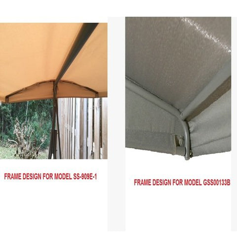 Garden Winds Replacement Canopy for Lowes Garden Treasures SS-909E-1 Swing – Riplock 350