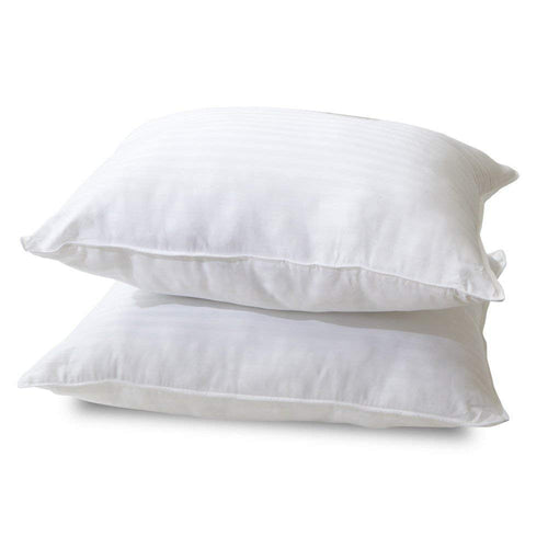 Classic Brands Quiet Sleep Gel Fiber Down Alternative Bed Pillows, Standard (2 Pack)