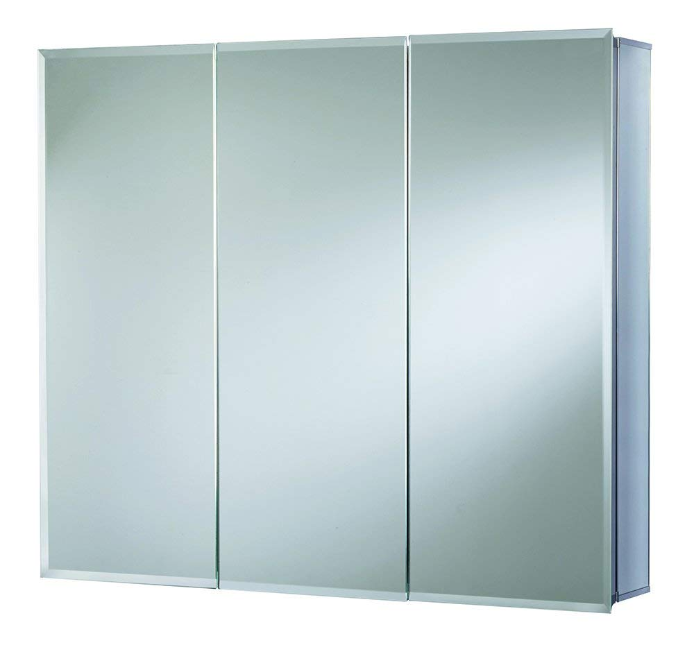 Croydex Westbourne 30-Inch x 36-Inch Triple Door Tri-View Cabinet with Hang 'N' Lock Fitting System