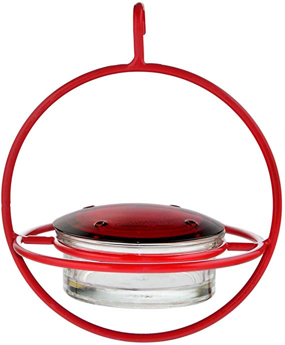 Mosaic Birds M047-301-R Hummble Bold Hummingbird Feeder Red