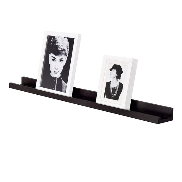 WELLAND Photo Ledge Picture Ledge, Picture Ledge Shelf (36-inch, Espresso)