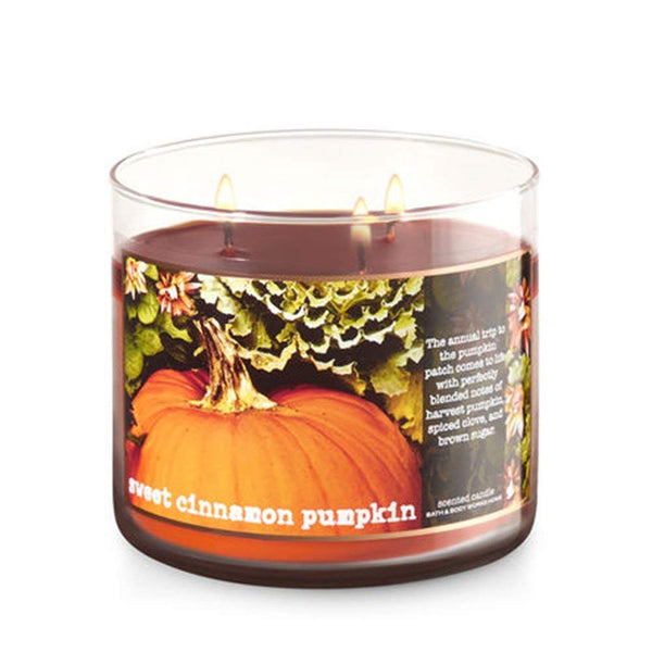 Bath & Body Works 3 Wick Sweet Cinnamon Pumpkin