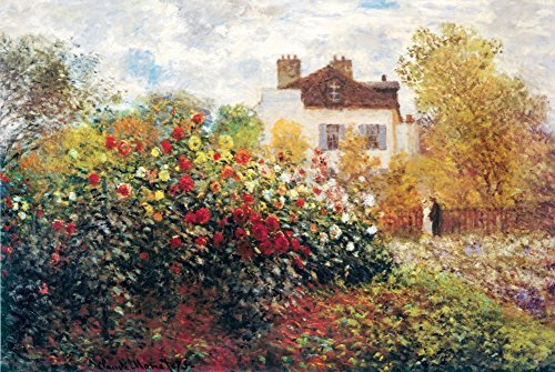 Buyartforless The Artist's Garden by Claude Monet 36x24 Art Print Poster