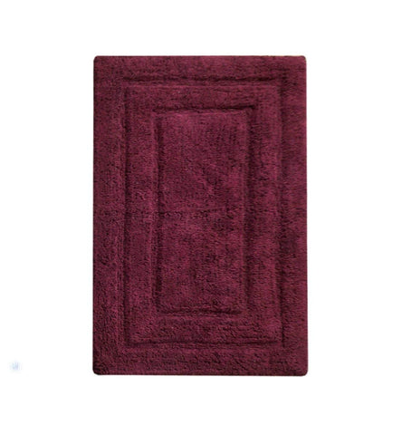 "Chardin home Classic Bath Rug, Large 27""X45"" Burgundy 100% Pure Cotton, Super Soft, Plush & Absorbent with Latex Spray Non-skid Backing"